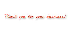 thank you for your business!